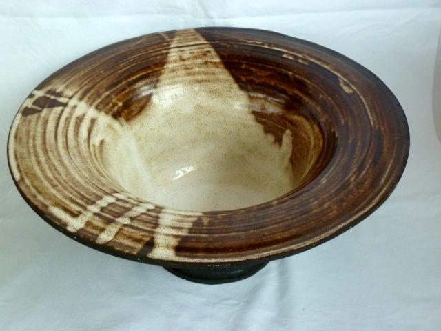 Vessel - open large black grogged clay